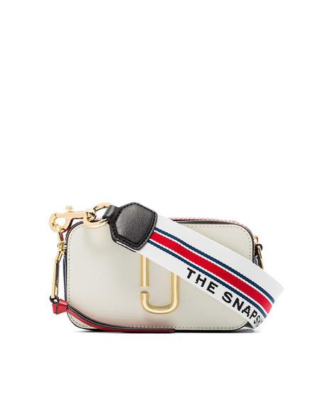 Marc Jacobs Logo Snapshot Bag Crossbody - white