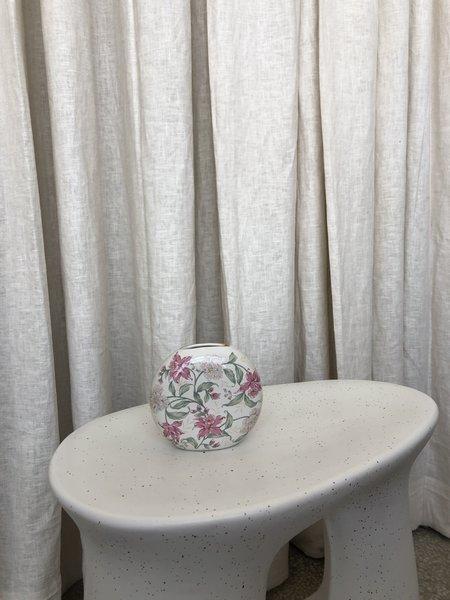 Vintage HAND PAINTED FLORAL VASE - floral