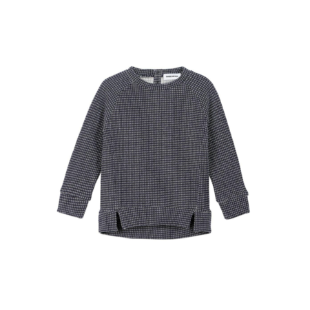 KIDS DIAPERS + MILK Stripe Pullover - BLACK
