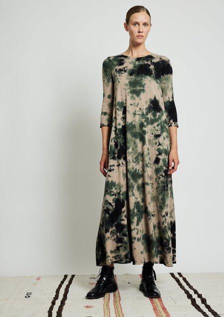 Raquel Allegra Drama Maxi Dress - Army Calico