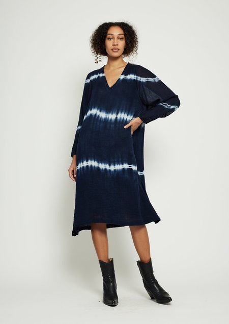 Raquel Allegra Phoenix Dress - Indigo