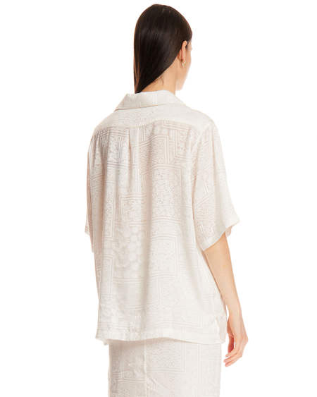 Rotate Avery Shirt with Embroidery - White