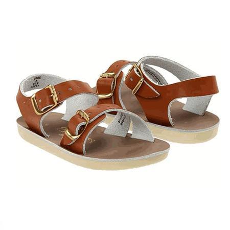 kids Saltwater Sandals Surfer Sandals - Tan Brown