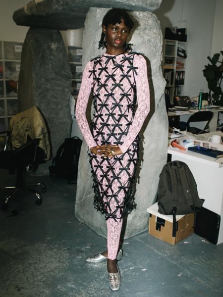 Ashley Williams Lattice Dress - black