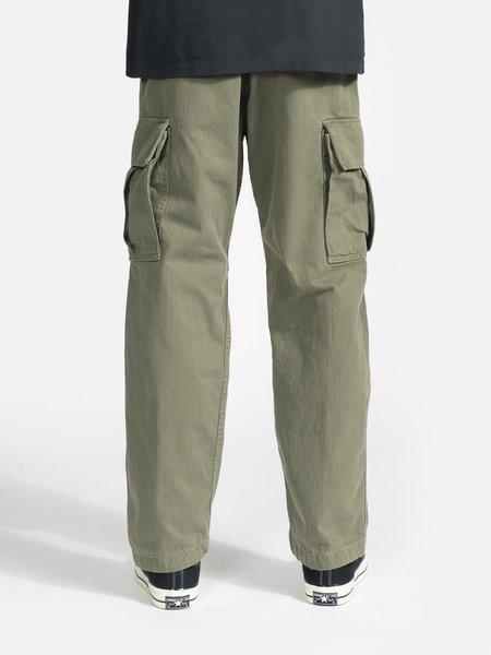 General Admission Herringbone Cargo Pant - Olive
