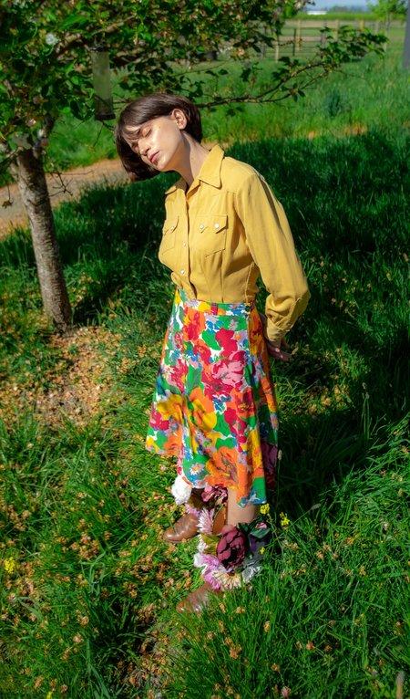 Vintage Wildflower Garden Skirt - multi