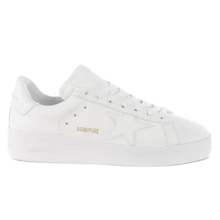 Golden Goose Pure Star Leather Upper Star And Heel - Optic White