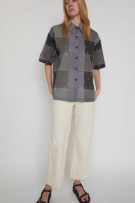 No.6 Leigh Shirt - Gingham Patchwork