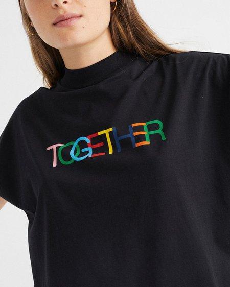 Thinking Mu W Together T-Shirt - Black