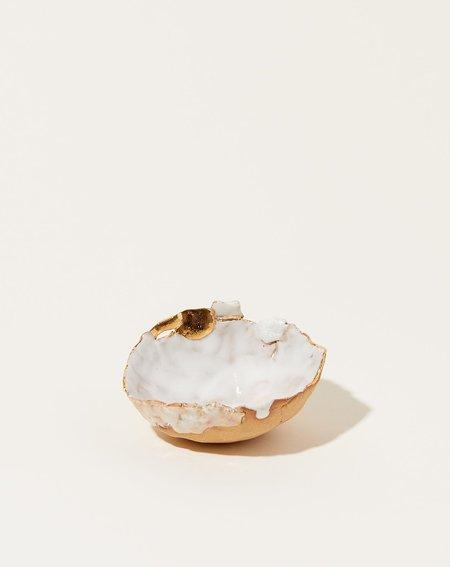 Minh Singer Mini Halo Dish - White/Gold