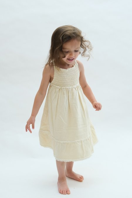 kids Raised By Water Louise Dress - Butter
