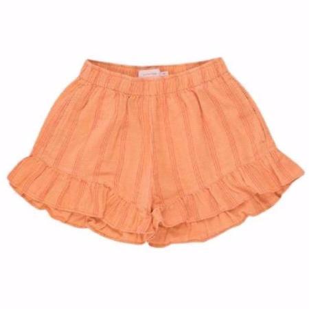 KIDS tinycottons stripes frill shorts - light papaya/red