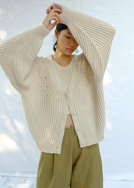 Micaela Greg Coto Cardigan - Vanilla