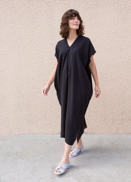 Atelier Delphine Black Cresent Long Dress - black