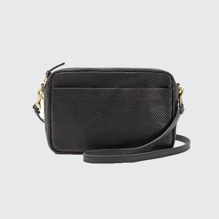Clare V. Marisol Perforated Bag - BLK