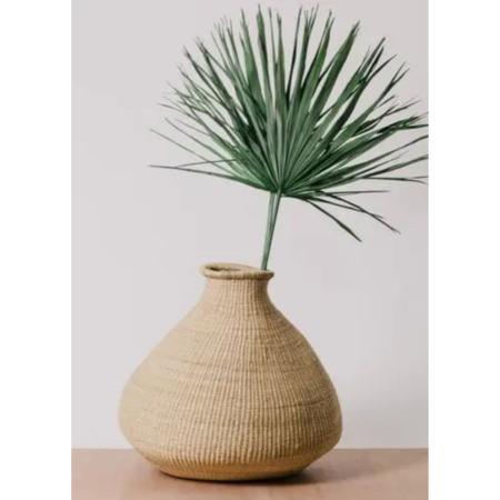 Kazi Goods Large Grass Bud Vase - Natural
