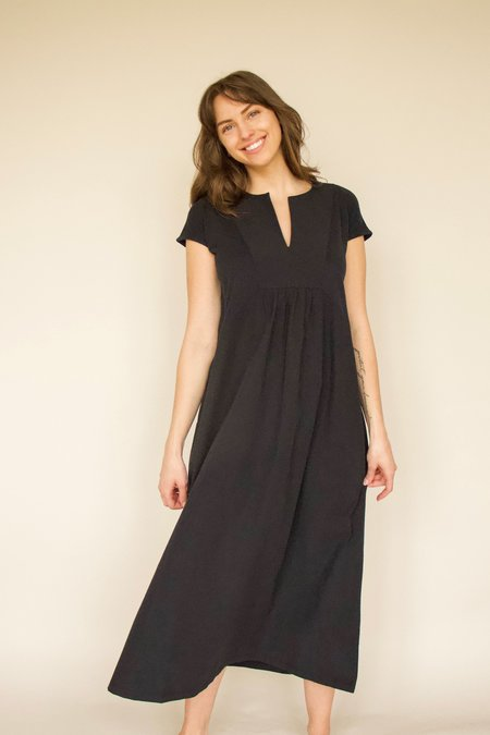 beaumont organic MAUD Organic Cotton Dress - black