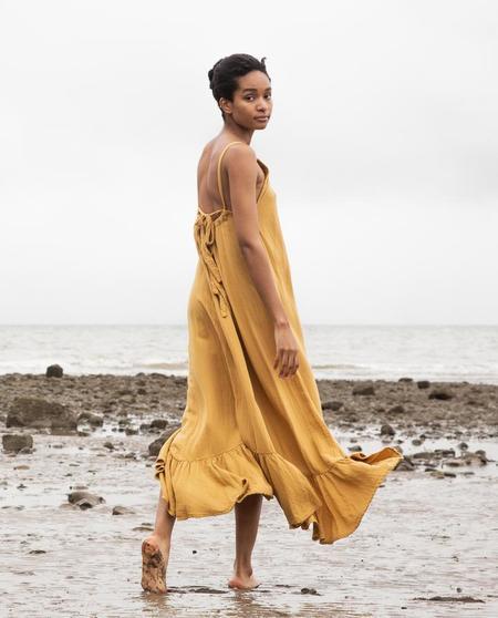 beaumont organic Belmira Dress - yellow