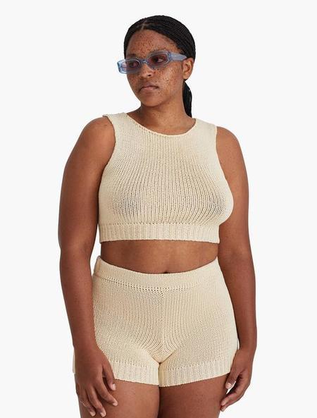 Paloma Wool Zubat Knit Short - Ecru