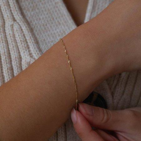 Leah Alexandra Singapore Chain Bracelet - 10k Gold