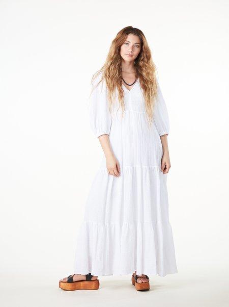 Ottod'Ame Oversized Cotton Maxi Dress - BIANCO