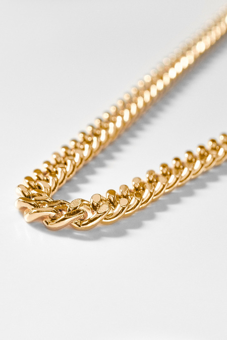 """Thatch Drew Curb 14"""" + 2"""" Extender Necklace  - Gold"""
