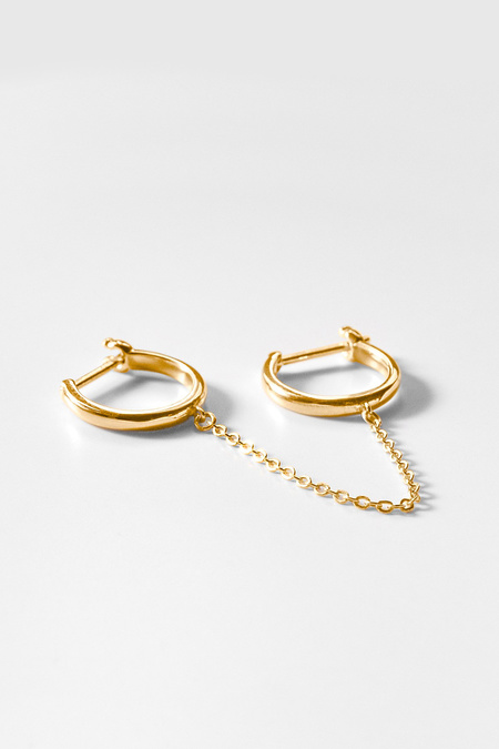 Thatch Remi Double Hoop Earring - Gold