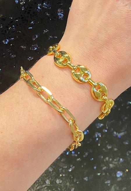 SS JEWELRY Chunky Link Bracelet - Gold