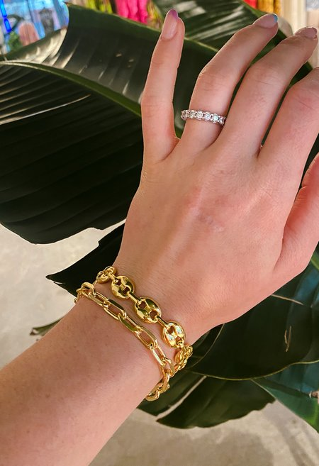 SS JEWELRY Chunky Mariner Bracelet - Gold