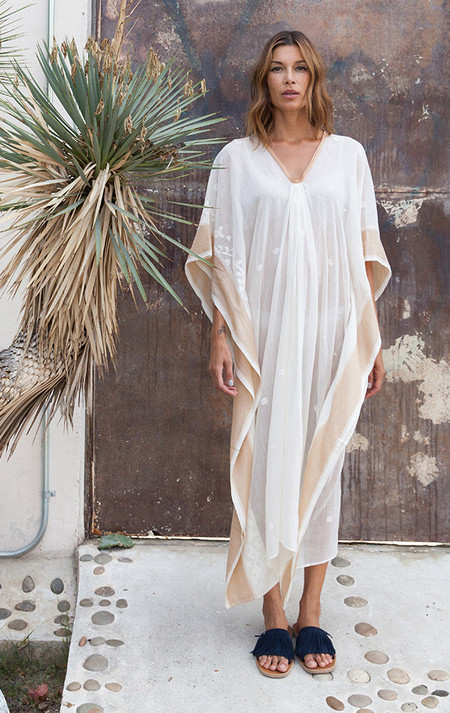 Two New York Caftan with silk border