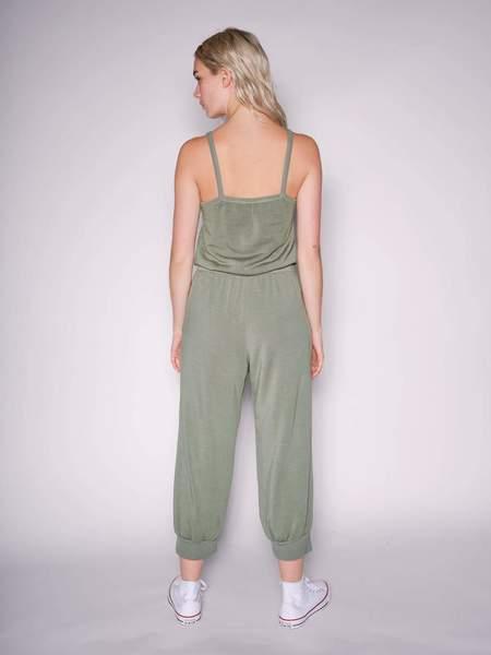 Stateside Softest Fleece Jumpsuit - Moss