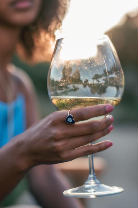 Pade Vavra Lapis, Turquoise and Diamond Heart Ring