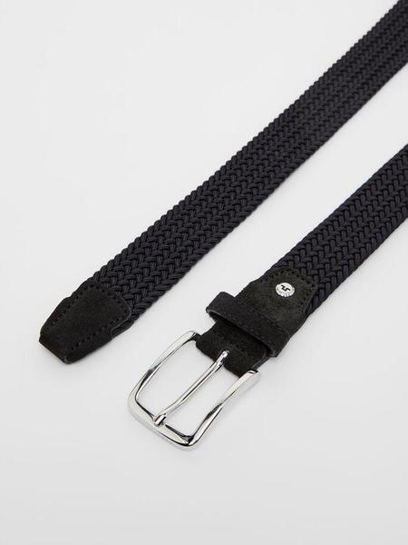 J Lindeberg Ben Braided Elastic Belt - Black