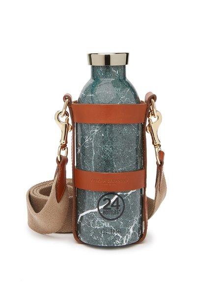 Officina del Poggio Bottle Bag with Bottle - Tan