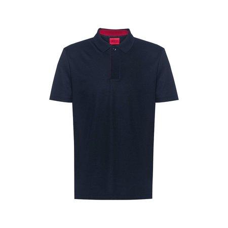 Hugo Dekok Mercerised Cotton Polo - Navy