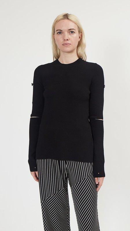 Maison Margiela Cut Out Sweater - Black