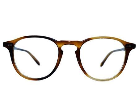 unisex Garrett Leight Hampton 44 glasses - Brown/Natural
