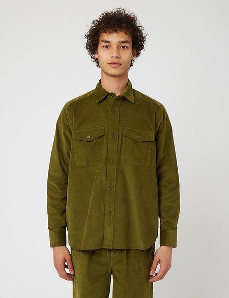 Bhode x Brisbane Moss Vintage Work Shirt - Grass Green