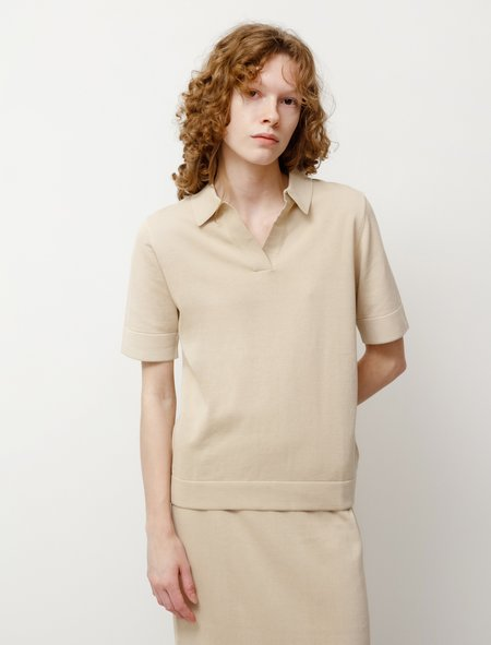 Norse Projects Evy Dry Cotton Polo - Limestone