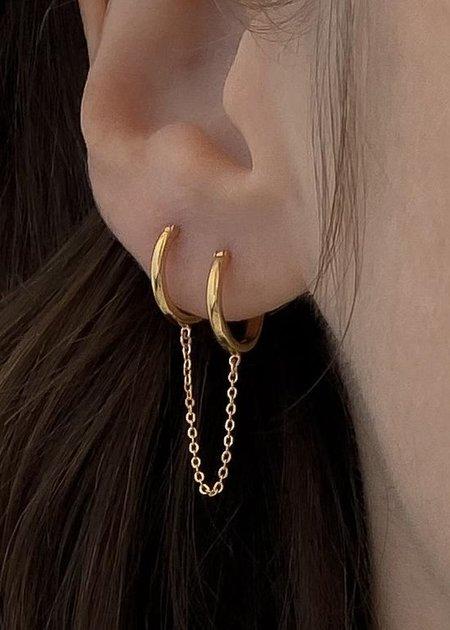 Thatch Remi Double Hoop Earrings - 14k gold vermeil