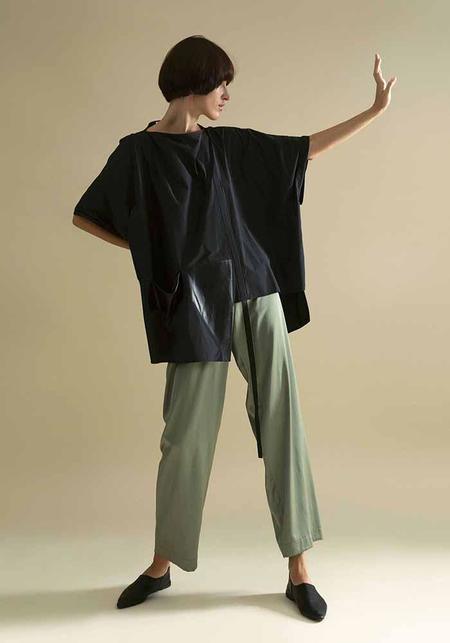 MiiN Leather Pocket Batwing Top