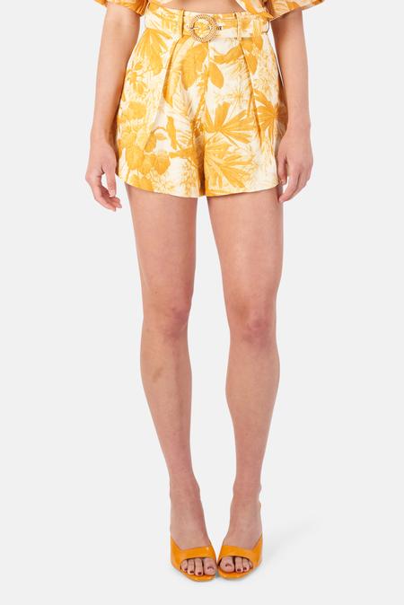 Zimmermann Mae Palm Tuck Short - Amber Palm