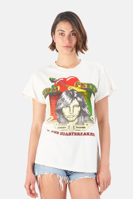 MadeWorn Rock Tom Petty 1980 Tour T-Shirt - Off White