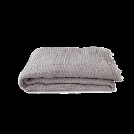 Hawkins New York Simple Linen Throw - Light Grey