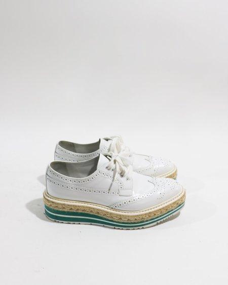 [Pre-loved] Prada Platform Espadrille Brogues