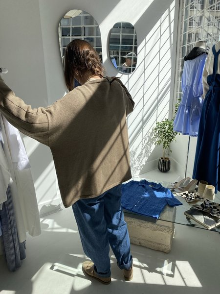 Monica Cordera Asymmetric Jacket - Taupe
