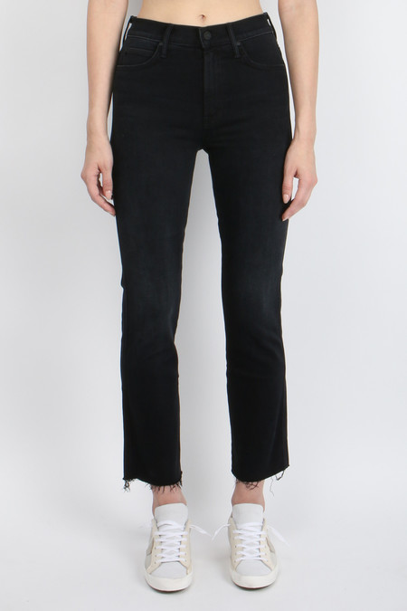 Mother Denim High Waisted Rascal Ankle Step Fray