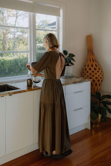 Mina Balance Dress - Olive