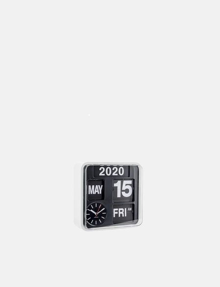 Karlsson Wall Clock Mini Flip - White