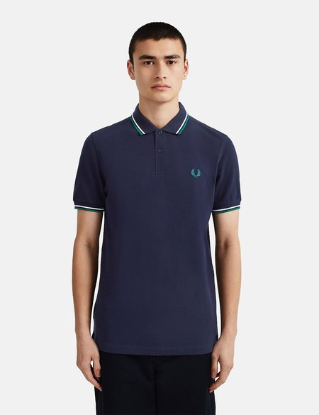 Fred Perry Twin Tipped Polo Shirt - Blue
